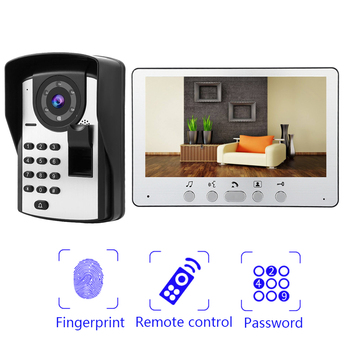 цена на 7 Inch Wired Video Door Phone Home Security System Doorbell Intercom Kit Infared Night Vision
