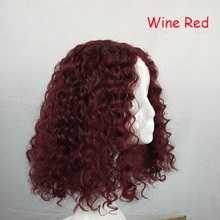 Shopify-Dropshipping Black Gold Short Curly Hair Wig BOB Short Wigs Cosplay Women Curly Synthetic Fiber Wigs Hair Styling Tool