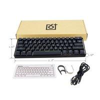 GK61 Swappable 60% Rgb Toetsenbord Aangepaste Kit Pcb Montageplaat Case Gamer Mechanische Gevoel Toetsenbord Gaming Rgb Toetsenbord