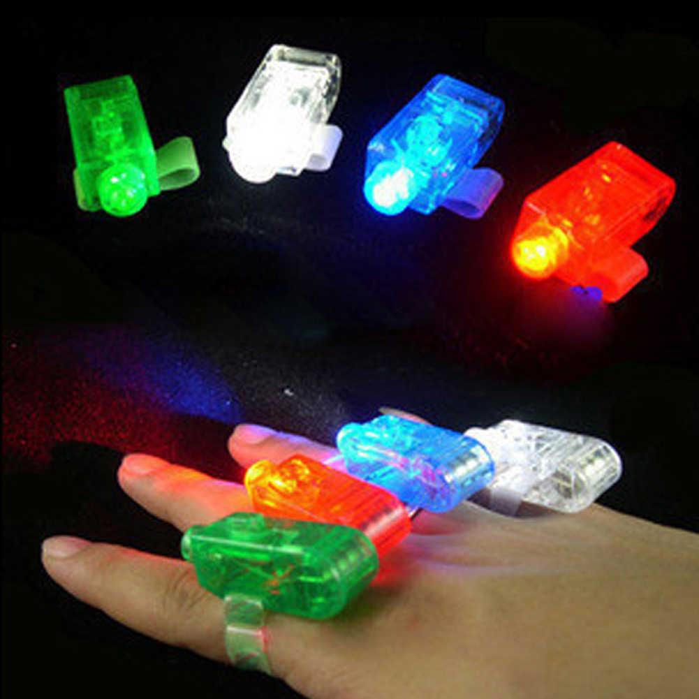 1 قطعة LED الليزر فنجر تضيء شعاع مصابيح حزب الشعلة موجة توهج حلقة جديد وصول 1601 اللون عشوائي