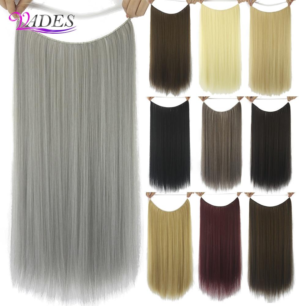 Прямые светлые волосы для наращивания, невидимые синтетические волосы Омбре Bayalage, натуральные скрытые секретные волосы, корона, серые розо...