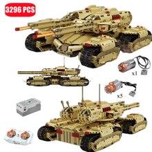 3296Pcs High-tech Military Remote Control MK-II Tank Model Building Block Kits Creativity Electric RC Bricks Kids Toys For Boys