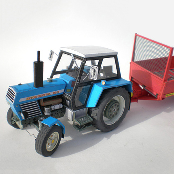 Zetor Crysta 8011 Tractor 1:32 Czech Folding Cutting Mini 3D Paper Model Papercraft DIY Adult Handmade Craft Toys ZX-025 image