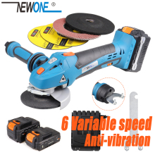 Grinder Max.4.0ah-Battery NEWONE Cordless Cutting Speed-Angle Variable Li-Ion 20V M14