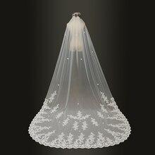 2019 wedding veils 3 เมตร Cathedral ยาวลูกไม้ Edge ผ้าคลุมหน้าเจ้าสาวด้วยหวีอุปกรณ์จัดงานแต่งงานเจ้าสาวแต่งงาน