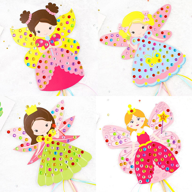 Children DIY Fairy Stick Handmade Princess Magic Stick Toy Handmade Materials Package Sticker Girl Gift DIY Craft Toys