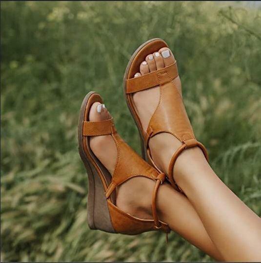 Temperament Wedge Women's Shoes Open Toe  3