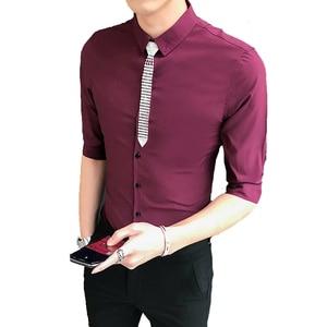 Image 5 - Блузка мужская приталенная с полурукавами, 3 цвета, 5 хl м