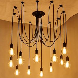 Image 2 - Plafonnier Led suspendu en forme daraignée, design nordique Vintage, plusieurs formes rétro réglables bricolage design classique, luminaire dintérieur