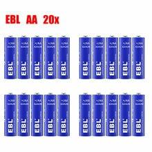 20PCS EBL AA Alkaline Batteries 1.5V LR6 LR91 MN1500 AM3 Battery 15A Single Use батарея gp super alkaline 15a lr6 aa 10шт