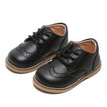 Shoes Formal Baby-Boys-Girls Kids Toddler Soft Children Oxford Non-Slip Lace-Up Brogue