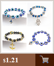 Blast Turkish blue eyes male and female bracelet Muslim jewelry Fatima Palm Demon Eye