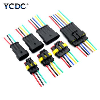1set AMP 1/2/3/4/5/6 Pin Way Wire harness for Car Motorcycle Waterproof Electrical Auto Connector Male Female Car Plug Connector недорого