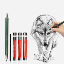 Recargas mecânicas do núcleo do lápis do carvão vegetal para a pintura do esboço que desenha artigos de papelaria 4.0mm da fonte do escritório da escola