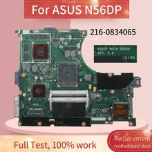 Placa-mãe do portátil n56dp para asus n56dp n56d hd7730 2 gb notebook mainboard rev: 2.0 216-0834065 ddr3