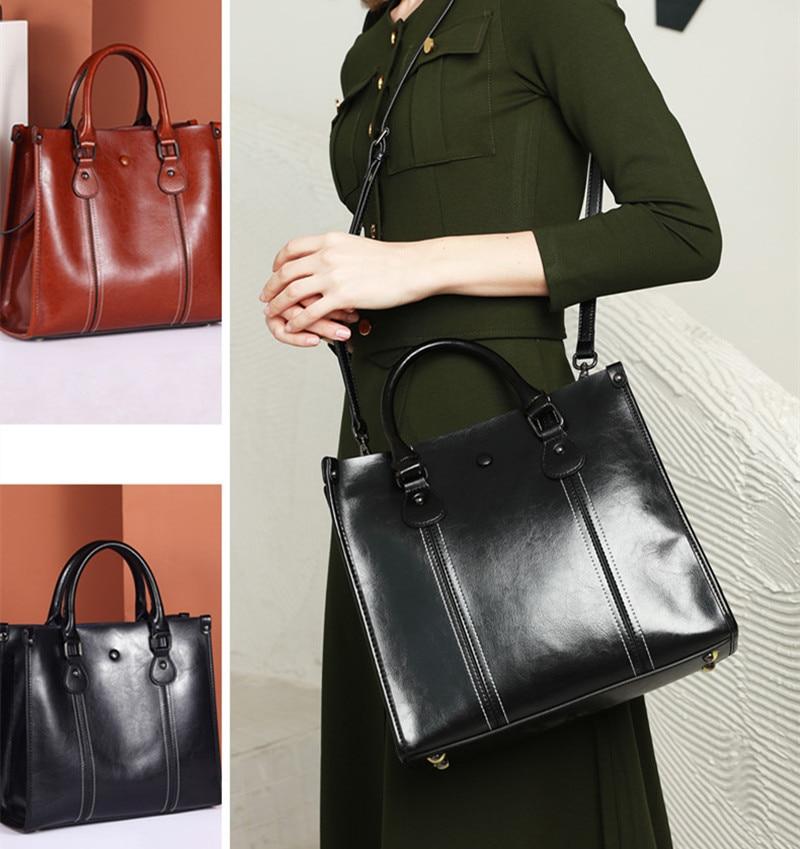 Luxury fashion ladies handbags womens sling bags bucket genuine leather tote bags bolsas shoulder women messenger hand bag woman