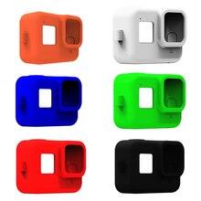 מגן מקרה עור עבור GoPro גיבור 8 שחור רך סיליקון Case כיסוי מעטפת עבור Gopro 8 מזג זכוכית סרט מצלמה אבזרים