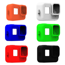 Protective Case Skin For GoPro Hero 8 Black Soft Silicone Case Cover Shell for Gopro 8 Tempered Glass Film Camera Accessories
