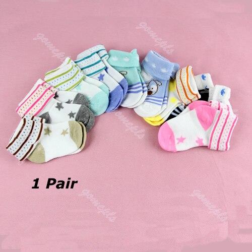 Infantil Da Criança Do Bebê dos desenhos animados Quente Não-slip Sapatinho Botas Sapatos Ankle Socks Tornozeleira