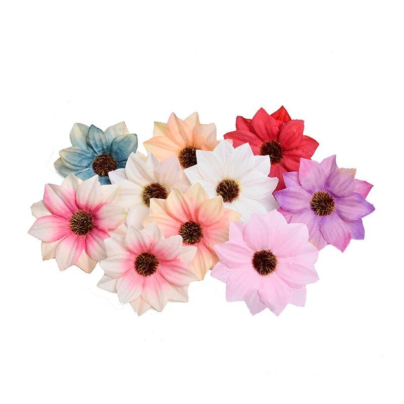 10 шт. 5,5 см мини Гербера искусственный цветок голова Свадебные украшения DIY ВЕНОК аксессуары дешевые искусственные поддельные цветы