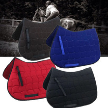 Western Horse Riding Protective Cushion Cotton Saddle Pads Sweat Absorbing Equestrian Show Jumping Performance Saddle Cover