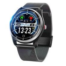 새로운 ECG + PPG 스마트 시계 혈압 심장 박동 모니터 IP68 방수 8 멀티 스포츠 모드 Smartwatch 남성 여성 PK N58