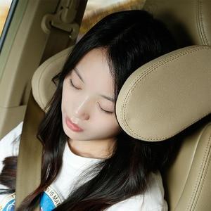 Image 3 - Sleep เด็กสนับสนุนรถที่นั่งพับเบาะกันกระแทกปรับอัตโนมัติด้านข้าง PU หนังผู้ใหญ่คอหมอน