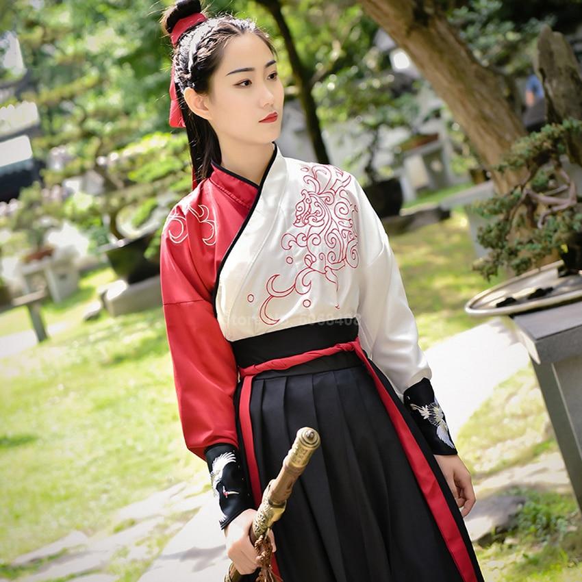 Traditional Kimono Dress Women Yukata Haori Emboridery Crane Japanese Style Long Robe Samurai Costume Party Halloween Cosplay