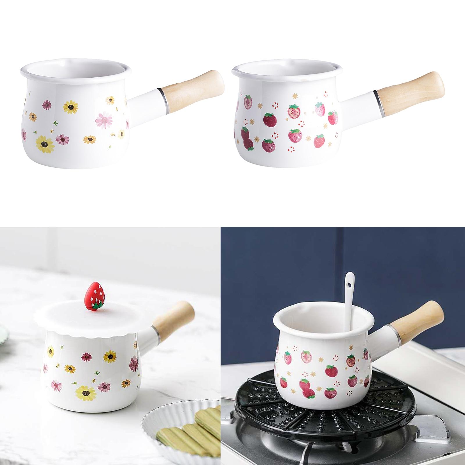 Купить мини антипригарная молочная кастрюля эмалированная чайная чайник