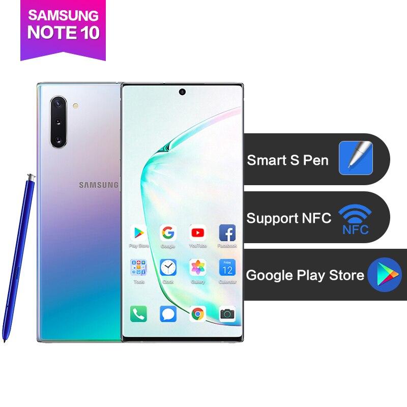 "Samsung Galaxy Note 10 Android9.0 6.3""AMOLED Full screen 2280*1080 8G 256G Fingerprint+Face ID 3500mAh Octa Core 4 cameras S Pen"
