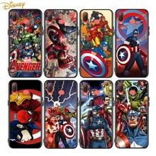 Marvel Avengers Voor Samsung Galaxy A9 A8 Ster A750 A7 A6 A5 A3 Plus 2018 2017 2016 Zwarte Telefoon Case soft Cover