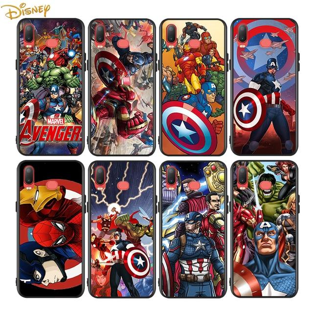 Marvel Avengers for Samsung Galaxy A9 A8 Star A750 A7 A6 A5 A3 Plus 2018 2017 2016 Black Phone Case Soft Cover