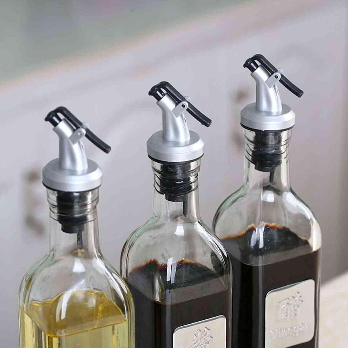 ถั่วเหลืองซอส/น้ำส้มสายชู/ไวน์หัวฉีดหัวฉีดแบบ LeakProof ครัวซอสขวดน้ำมันหัวฉีด Sprayer น้ำส้มสายชู Pour Spout CAP stopper