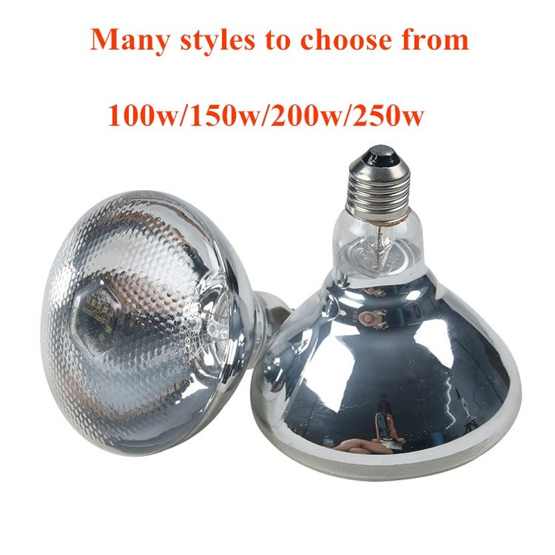 Farm E27 100W/150W/250W Explosion-proof Heat Lamp Hermal Preservation Pig Chicken Heat Light Bulb 220v Brooder Lamp Heater