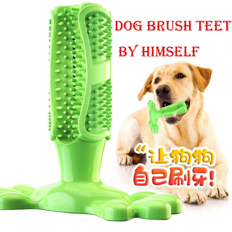 Dog Toy Dog Chew Toys Dog Toothbrush Pet Molar Tooth Cleaning Brushing Stick Doggy Puppy Dental Care Dog Pet Supplies image