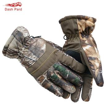 Zimowy odkryty kamuflaż bioniczny rękawice myśliwskie zbudowany w wodoodpornej folii wiatroszczelne odporne na zużycie polarowe sportowe rękawice narciarskie tanie i dobre opinie Dash Pard Thickening fleece Pasuje prawda na wymiar weź swój normalny rozmiar B1-113