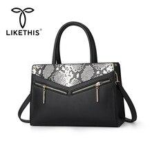 LIKETHIS Women Bag Fashion Messenger Bags High Quality Shoulder Clutch Female Designer Snake Skin Element Handbag