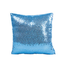 Unique sequined home dec cushion covers 400*400mm no inner zipper red white blue sofa bedroom pillow for X92