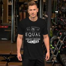 Vintage Coolest Gamers Girl Gamer Shirt Gamer Girl Stuff tshirt s-59xl fitted fallout Hipster homme t shirt tee(China)