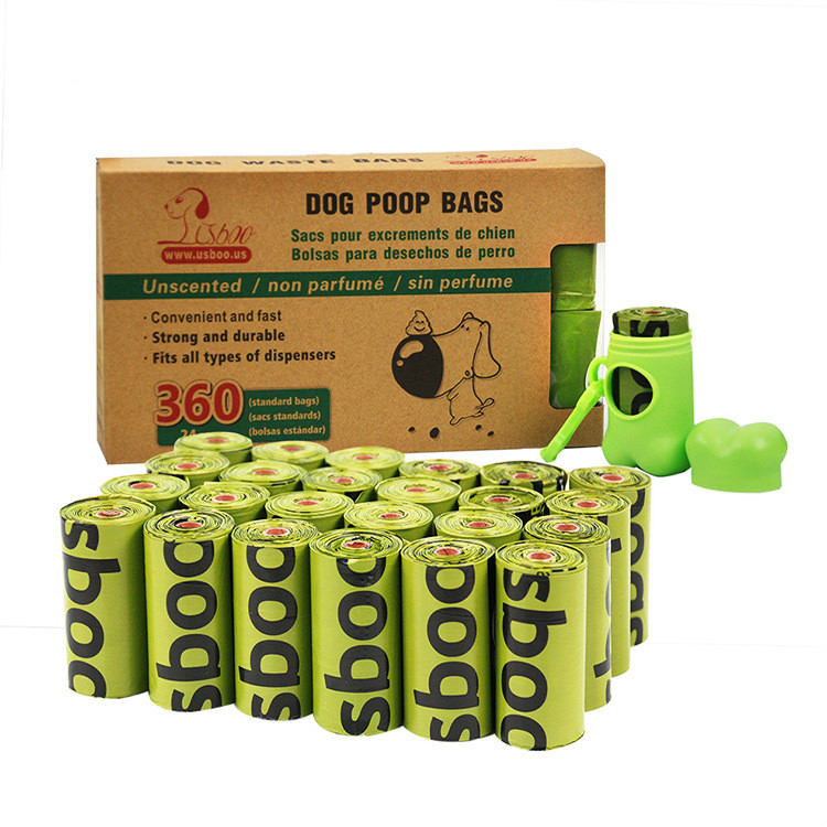 Dog Poop Bags Garbage Bag Degradable Environmentally Portable Pick-up Dispenser Rounded For Dog Cat Pet Supply Dispenser Rounded