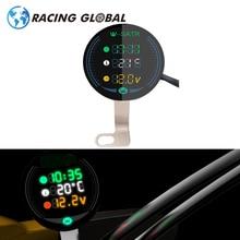 ALCON-Racing Motorcycle LED Volt Meter Waterproof 9-24V 3-in-1Night Vision Voltmeter Volt Gauge Display Table High quality
