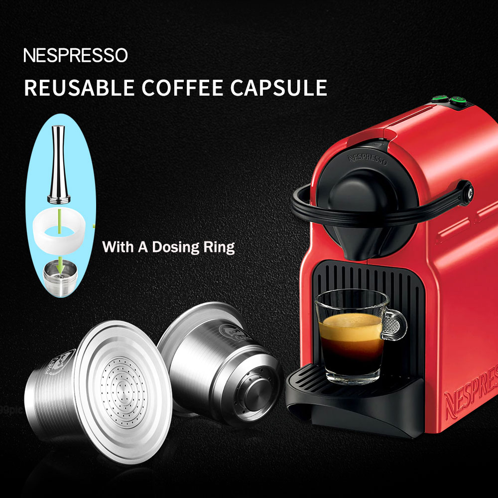 Stainless Steel Reusable Coffee Capsule Refillable Reusable Coffee Capsule for Nespresso Machine