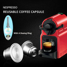 iCafilas Coffee Capsule For Nespresso Stainless Steel Capsules Refillable Reusable Filters Espresso Machine