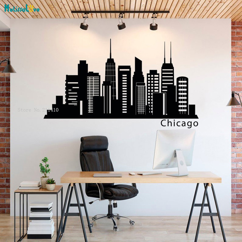 Wall Decal Chicago Skyline Decals