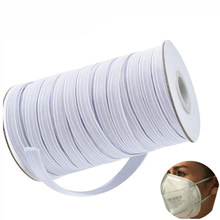 80/120/160/165 Yards Elastic Band Masks White Black 3/5/7/9mm Elastic Flat Rubber Band Waist Band Sewing Stretch Rope DIY Masks(China)