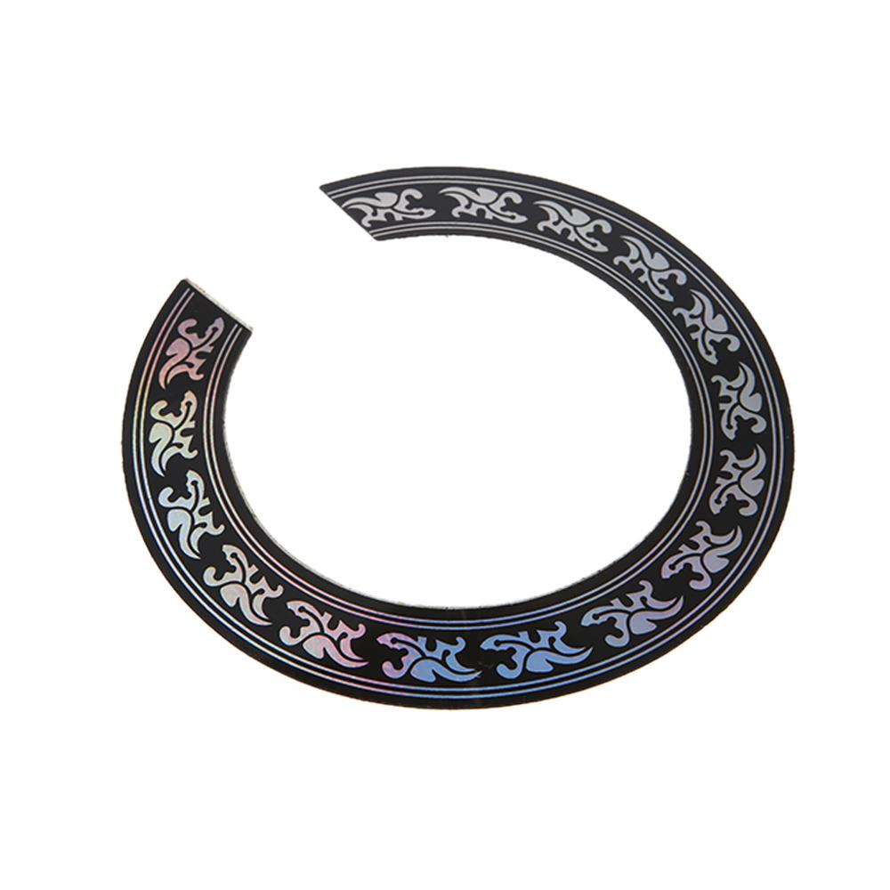 Hard PVC Circle Sound Hole Rosette Inlay For 38 39 Inch Acoustic Guitars Decal