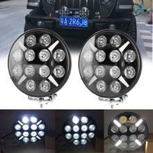Feu avant de voiture tout-terrain Wrangler 240W, éclairage de travail 9 pouces, lumière d'inspection technique, pour pare-chocs avant, 12V 24V 4WD