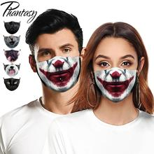 Fabric-Mask Mouth-Masks Joker Face Funny Reusable Printed Phantasy Fashion Cartoon 3D