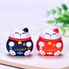 Cartoon Cute Lucky Cat KeyChain Women PVC Lanyard Animal Doll Keyring Cat Charm Car Bag Pendant Key Chain Souvenir Gifts(China)
