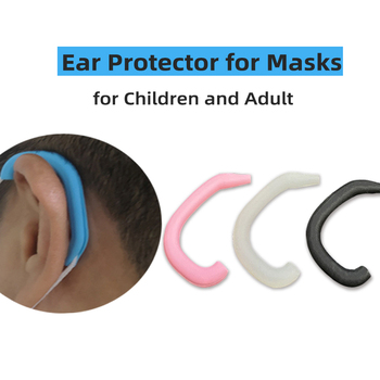 1Pair Children Adult Soft Silicone Ear Protector for Fack Mask Protection Ear Cuffs Ear Hook Protection For N95 KN95 Dust Masks image